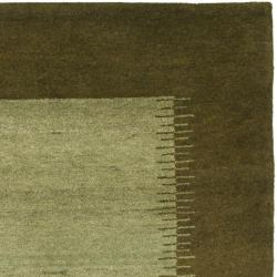 Safavieh Hand-knotted Gabeh Solo Teal Wool Rug (5' x 8') - Thumbnail 1