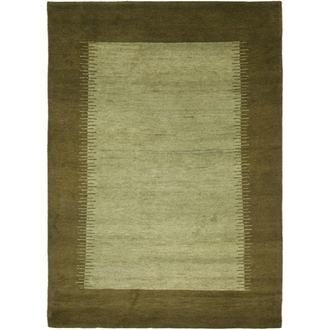 Safavieh Hand-knotted Gabeh Solo Teal Wool Rug (6' x 9') ...