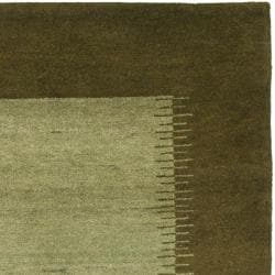 Safavieh Hand-knotted Gabeh Solo Teal Wool Rug (6' x 9') - Thumbnail 1