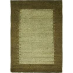 Safavieh Hand-knotted Gabeh Solo Teal Wool Rug - 4' x 6' - Thumbnail 0