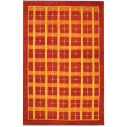 Safavieh Hand-knotted Gabeh Moonfest Rust Wool Rug (5' x 8')