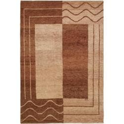 Safavieh Hand-knotted Gabeh Quest Brown Wool Rug (4' x 6')