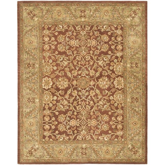 Safavieh Handmade Golden Jaipur Rust/ Green Wool Rug (6' x 9')