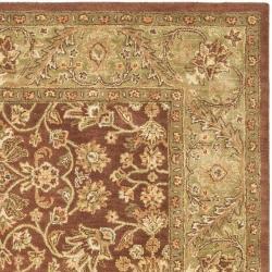 Safavieh Handmade Golden Jaipur Rust/ Green Wool Rug (6' x 9') - Thumbnail 1