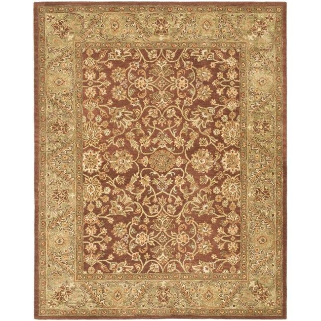 Safavieh Handmade Golden Jaipur Rust/ Green Wool Rug - 7'6 x 9'6