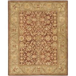 Safavieh Handmade Golden Jaipur Rust/ Green Wool Rug - 7'6 x 9'6 - Thumbnail 0