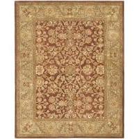 Safavieh Handmade Golden Jaipur Rust/ Green Wool Rug (7'6 x 9'6)
