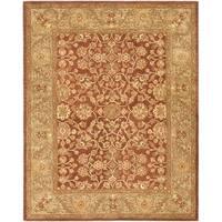 "Safavieh Handmade Golden Jaipur Rust/ Green Wool Rug - 7'-6"" x 9'-6"""