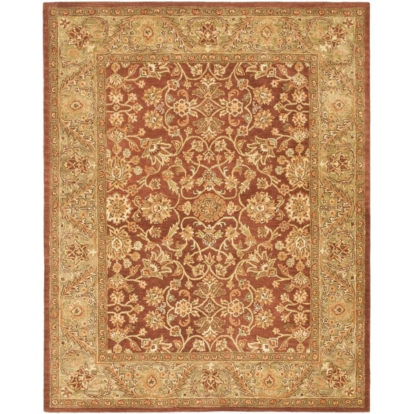 "Safavieh Handmade Golden Jaipur Rust/ Green Wool Rug - 7'6"" x 9'6"""