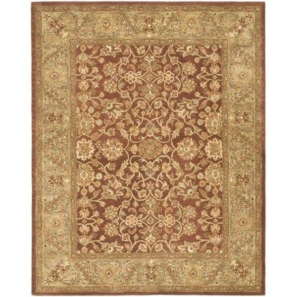 Safavieh Handmade Golden Jaipur Rust/ Green Wool Rug - 8'3 x 11'