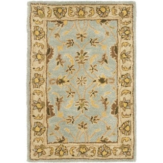 Safavieh Handmade Heritage Timeless Traditional Light Blue/ Beige Wool Rug (2' x 3')