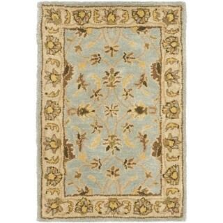 Safavieh Handmade Heritage Timeless Traditional Light Blue/ Beige Wool Rug (3' x 5')
