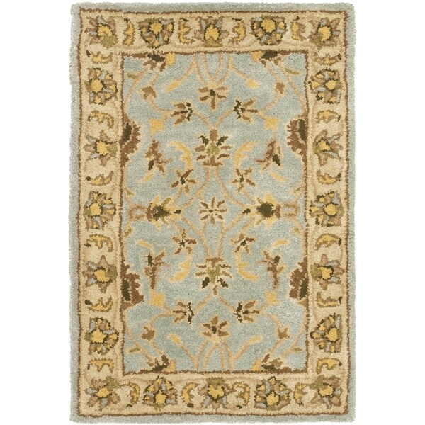 Safavieh Handmade Heritage Timeless Traditional Light Blue/ Beige Wool Rug (3' x 5')