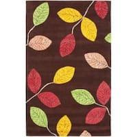 Safavieh Handmade Jardine Spring Brown Wool Rug - 5' x 8'