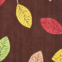 Safavieh Handmade Jardine Spring Brown Wool Rug (6' Square) - Thumbnail 2