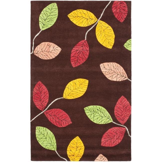 Safavieh Handmade Jardine Spring Brown Wool Rug - 8' x 10'
