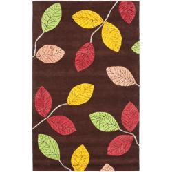 Safavieh Handmade Jardine Spring Brown Wool Rug - 8' x 10' - Thumbnail 0