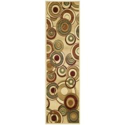 "Safavieh Lyndhurst Contemporary Ivory/ Multi Runner - 2'3"" x 14' - Thumbnail 0"