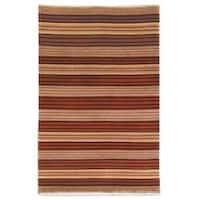 Safavieh Hand-knotted Lexington Stripes Multi Wool Rug - 8' x 10'