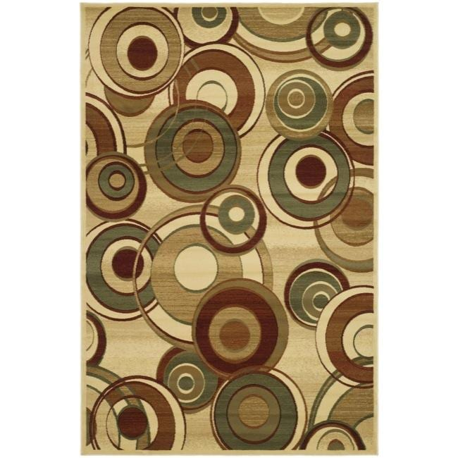 Safavieh Lyndhurst Collection Circ Ivory/ Multi Rug (9' x 12')