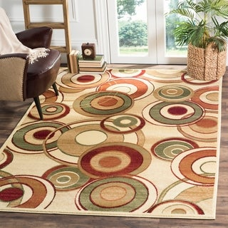 Safavieh Lyndhurst Contemporary Ivory/ Multi Rug (8' 11 x 12' rectangle)