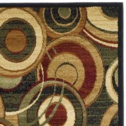 Safavieh Lyndhurst Contemporary Black/ Green Runner (2'3 x 14') - Thumbnail 1