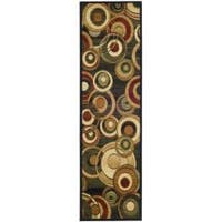 Safavieh Lyndhurst Contemporary Black/ Green Runner - 2'3 x 6'