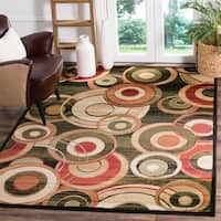 Safavieh Lyndhurst Contemporary Black/ Green Rug - 9' x 12'