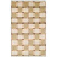 Safavieh Hand-knotted Lexington Plaid Ivory Wool Rug - 6' x 9'