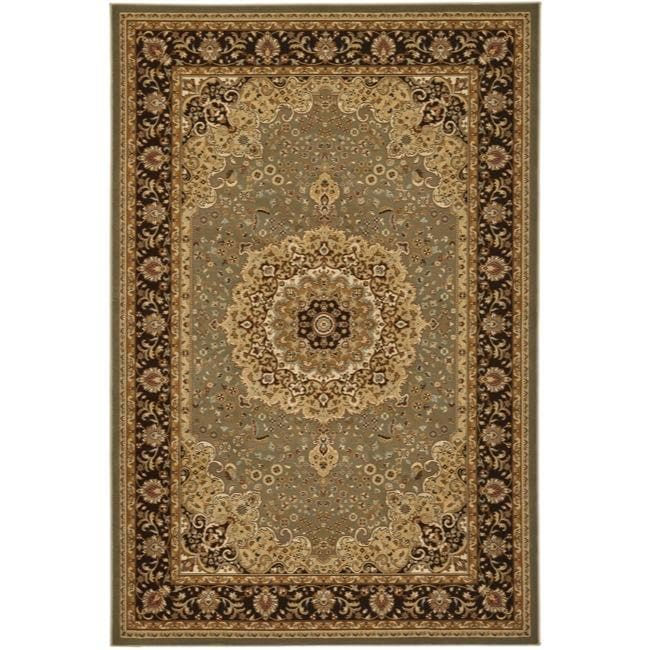 Safavieh Majesty Extra Fine Sage/ Brown Rug (7'9 x 9'9) - Thumbnail 0