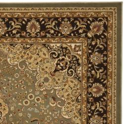 Safavieh Majesty Extra Fine Sage/ Brown Rug (7'9 x 9'9) - Thumbnail 2
