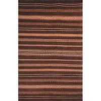 Safavieh Hand-knotted Lexington Stripes Brown Wool Rug - 8' x 10'