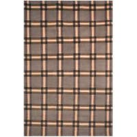 Safavieh Hand-knotted Lexington Plaid Grey Wool Rug - Assorted - 8' x 10'