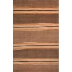 Safavieh Hand-knotted Lexington Stripes Beige Wool Rug - 8' x 10' - Thumbnail 0