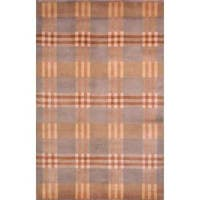 Safavieh Hand-knotted Lexington Plaid Multi Wool Rug - 6' x 9'