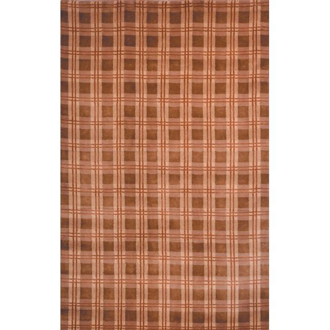 Safavieh Hand-Knotted Lexington Plaid Beige Contemporary Wool Rug (6' x 9')