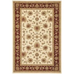 Safavieh Majesty Extra Fine Cream/ Red Rug (7'9 x 9'9)