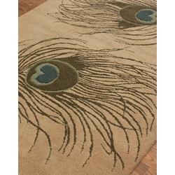 Thumbnail 2, nuLOOM Handmade Peacock Wool Rug (7'6 x 9'6). Changes active main hero.