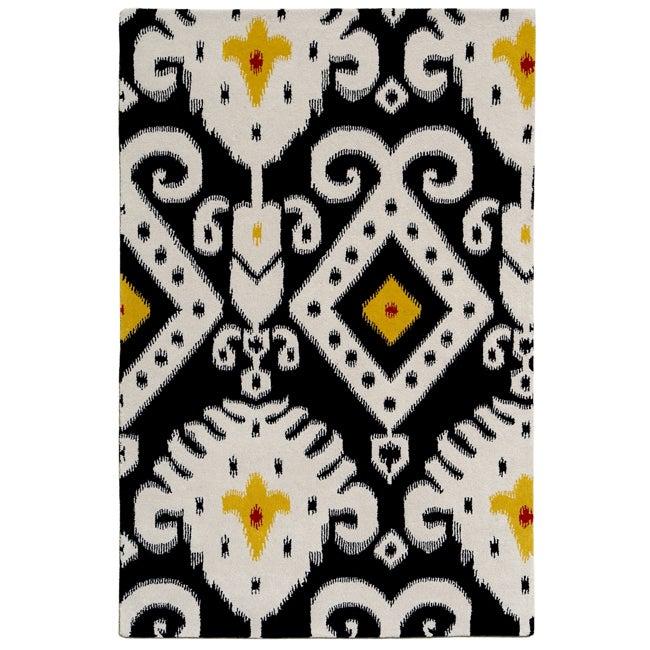 nuLOOM Handmade Cosmo Ikat New Zealand Wool Rug (7'6 x 9'6)