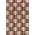 "Hand-Knotted Luna Nepalese Brown/Beige New Zealand Wool Rug - multi - 7'6"" x 9'6"""