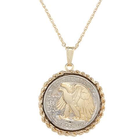 American Coin Treasures Silver Walking Liberty Half Dollar Necklace
