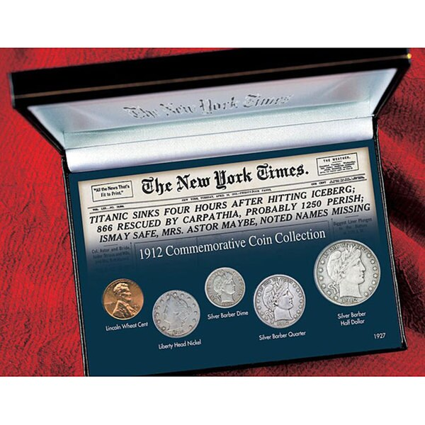 American Coin Treasures New York Times Titanic 1912 Commemorative Coin Collection