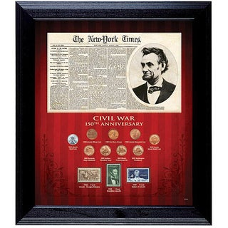 American Coin Treasures Civil War 150th Anniversary Coin and Stamp Collection