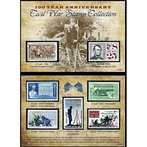 American Coin Treasures Civil War 150th Anniversary Commermorative Stamp Collection