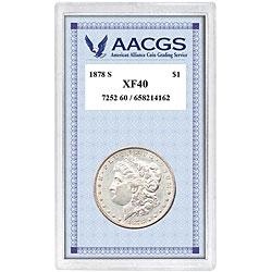 American Coin Treasures 1878's Morgan Silver Dollar