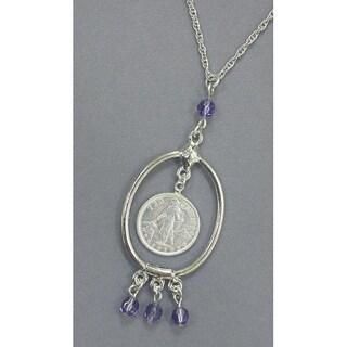 American Coin Treasures Silvertone10 Centavo Philippine Coin Necklace
