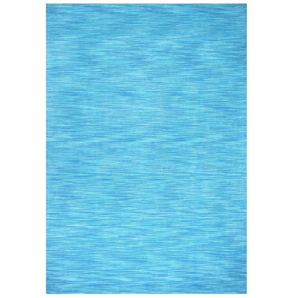 Shop Hand-tufted Fusion Aqua Wool Rug (4' X 6')