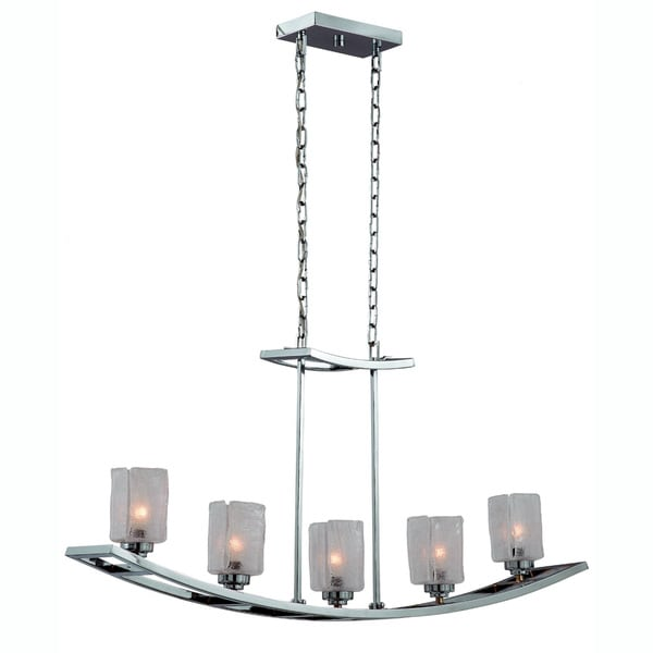 Yacht Club Chrome 5-light Island Light