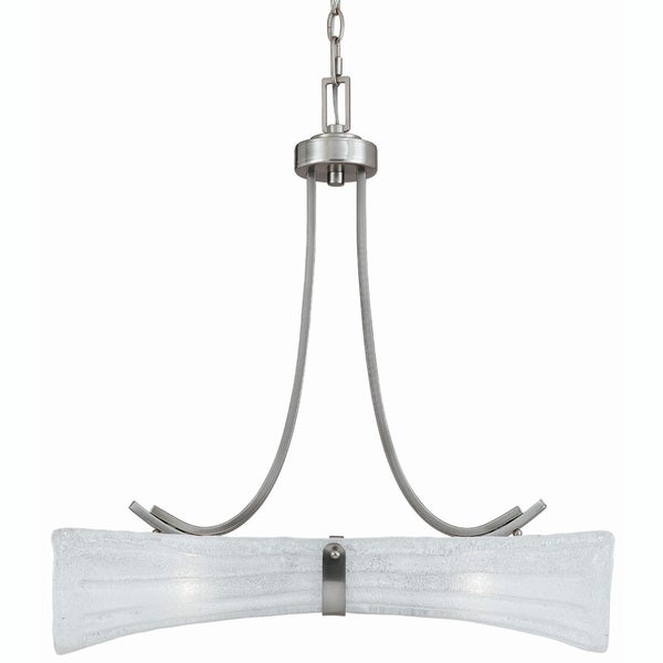 Bali Satin Nickel 2-light Island Light