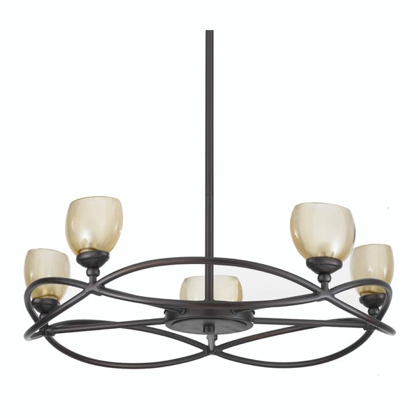 Retro 5-light Chandelier with Bronze Finish